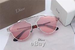 2017 NEW AUTHENTIC CHRISTIAN DIOR SO REAL POP sunglasses Silver FRAME Pink LENS