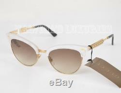 $470 Gucci Sunglasses Gg 4283/s U29jd Cat Eye Mother Of Pearl Metal Current