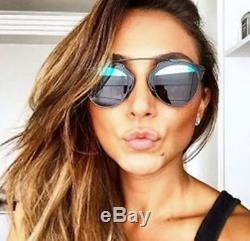 AUTHENTIC NEW DIOR SO REAL Black Frame Blue/Gray Lens SUNGLASSES