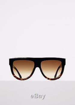 AUTH CELINE Shadow 41026/S Sunglasses Black tort frame