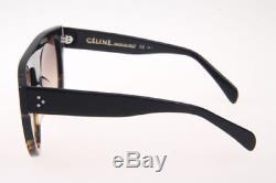 Auth Celine Shadow CL41026 Women Sunglasses Black/Tortoise