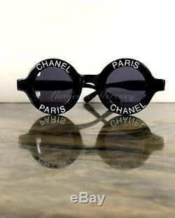 Auth Iconic Vtg Chanel Paris Round Sunglasses Dead Stock 01945 94305