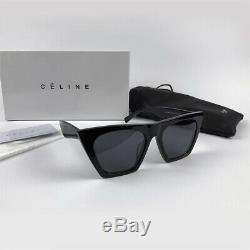 Authentic CELINE EDGE CL41468/S 807/IR Black / Gray Eyewear Sunglasses Women