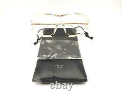 Authentic CELINE Transparent / Gold Sunglass Frame CL40040U 027 NEW