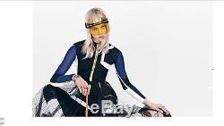 Authentic Christian Dior DIOR CLUB 1 Visor Black White/ Yellow Sunglasses