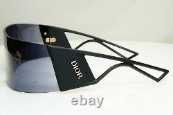 Authentic DIOR Womens Sunglasses Black KaleiDiorScopic Shield Visor Ski Vintage