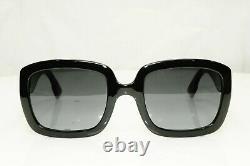 Authentic DIOR Womens Sunglasses Glossy Black D DIOR Square Gold CD Square