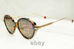 Authentic Dior Womens Sunglasses Round Umbrage Havana Brown Gold Mirror 0X3TN