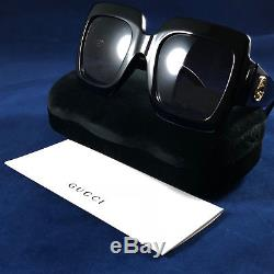 21af526ecb5 Authentic Gucci Gg0053s 0053 s 001 Urban Collection Black gold Square  Sunglasses