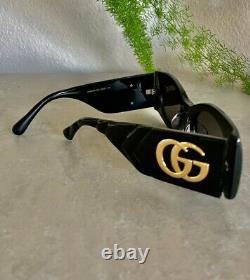 Authentic Gucci GG0810S Black/Grey (001) Sunglasses New