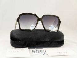Authentic Gucci GG 0375 S 001 Black Gradient Sunglasses