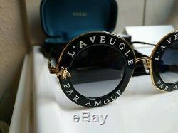 Authentic Gucci Gg0113s Round Frame Sunglasses L'aveugle Par Amour