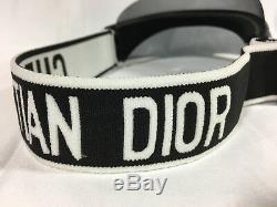 Authentic New Christian Dior Diorclub1 Sunglasses Gray Sun Visor Hat Cap
