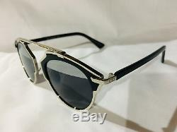 Authentic New Christian Dior So Real Sunglasses Silver Frame Silver/gray Lens
