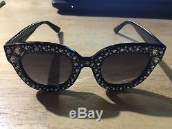 Authentic New Gucci Black / Stars GG 0116 S 001 Sunglasses