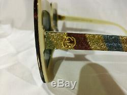 Authentic New Gucci Sunglasses Multicolor 004 GG0328s Women's Square 53mm Shade