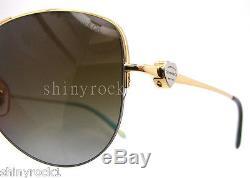 Authentic TIFFANY & CO Polarized Gold Aviator Sunglass TF 3021 6084T5 NEW 60mm