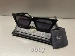 BRAND New CELINE EDGE CL41468/S Black Gray Cat Eye Eyewear Sunglasses