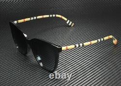 BURBERRY BE4308F 3853T3 Black Polarized Grey Gradient 56 mm Women's Sunglasses