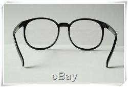 Black Round Vintage Retro Geek Nerd Clear Lens fashion Glasses fancy thin frames
