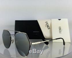 Brand New Authentic Fendi FF 0194/S Sunglasses 3YG0T Silver 55mm Frame 0194