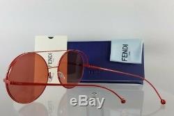 Brand New Authentic Fendi FF 0285/S Sunglasses 0C9A0L Red 63mm Frame 0285
