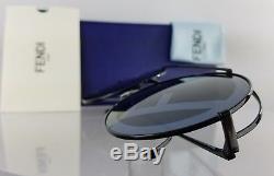 Brand New Authentic Fendi FF 0285/S Sunglasses 807MD Black 63mm Frame 0285