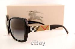 Brand New Burberry Sunglasses BE 4160 3433/8G Black For Women 100% Authentic