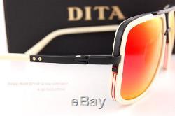 Brand New DITA Sunglasses MACH-ONE DRX-2030-K Matte Bone-Black/Grey-Red Mirror