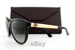 Brand New GUCCI Sunglasses 3784/S ANW DX Black Gold/Gray Gradient For Women