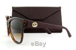 Brand New GUCCI Sunglasses 3786/S LWF CC Havana Rubber/Brown Gradient Women