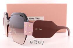 Brand New Miu Miu Sunglasses MU 09SS 1AB AD3 Black/Brown Gradient For Women