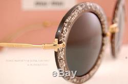 Brand New Miu Miu Sunglasses MU 13N 13NS 1AH1A1 SMOKE/GLITTER/GREY For Women