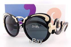 Brand New Prada Sunglasses PR 07TS 1AB 1A1 Black/Solid Gray Women