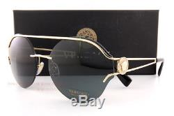 Brand New VERSACE Sunglasses VE 2184 1252/87 Gold/Solid Gray For Women