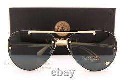 Brand New VERSACE Sunglasses VE 2231 1002/87 Gold/Dark Grey For Women