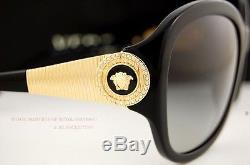 Brand New VERSACE Sunglasses VE 4237B GB1/11 BLACK/GOLD Women 100% Authentic