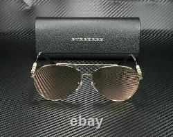 Burberry BE3092Q 12437J Gold Brown Mirror Rose Gold Women Sunglasses 57 mm