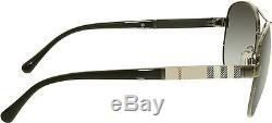 Burberry Women's Gradient BE3080-10038G-59 Gunmetal Aviator Sunglasses