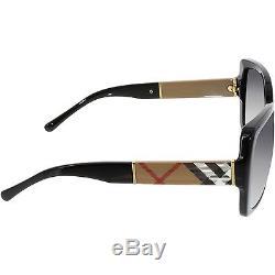 Burberry Women's Gradient BE4160-34338G-58 Black Square Sunglasses