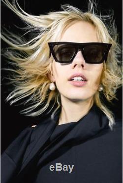 CELINE CL41468/S 807/IR Black Edge Frame Gray Lens Sunglasses %100 Authentic