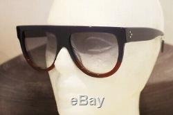 CELINE CL 41026/S SHADOW sunglasses FV7DV Blue Burgundy 100% Authentic