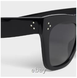CELINE Cat Eye S004 Acete Black Sunglasses with Polarized Lenses