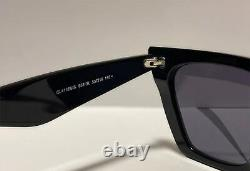 CELINE EDGE CL41468/S Black Gray Cat Eye Eyewear Sunglasses