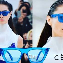47c8162861 Celine Edge Cl 41468 s Geg Tr Blue Bluet Grey Lens Women Sunglasses 51mm  Small