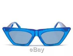 CELINE EDGE CL 41468/S GEG TR BLUE BLUET Grey Lens WOMEN SUNGLASSES 51mm SMALL