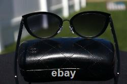 CHANEL 4222 Cat Eye Sunglasses c. 101/S6 Black Frame / Gray Gradient Lenses