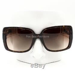 CHANEL 5208 Q 714/3B Sunglasses Brown Tortoise Gold Chain & CC Logo