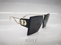 CHRISTIAN DIOR 30MONTAIGNE Black Gray Square Sunglasses Eyewear New Women