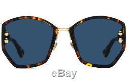 CHRISTIAN DIOR ADDICT 2 Brown Yellow Havana (P65/A9) Sunglasses